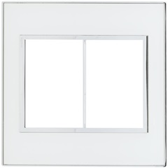 Placa para 3 Postos Separados Arteor Mirror White 4x4 - Pial Legrand
