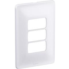 Placa para 3 Postos Separados Zeffia 4x2'' Branca - Pial Legrand