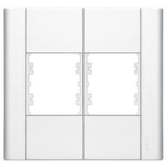 Placa para 4 Módulos Horizontais 4x4 Modulare Branca - Fame