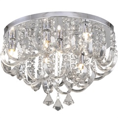 Plafon Arcos de Cristal para 7 Lâmpadas - Hevvy