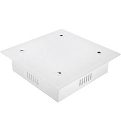 Plafon de Embutir Quadrado para 2 Lâmpadas Zimbros 7x28cm Branco - Taschibra