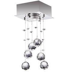 Plafon em Aço para 1 Lâmpada Cromado