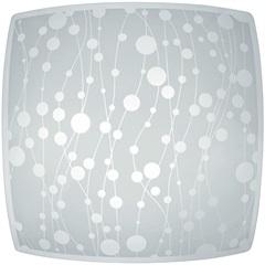 Plafon em Vidro para 1 Lâmpada Quadrado Recife 25cm - Nacional Iluminação