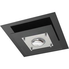 Plafon em Vidro Quadrado para 1 Lâmpada 40cm Preto - Pantoja & Carmona