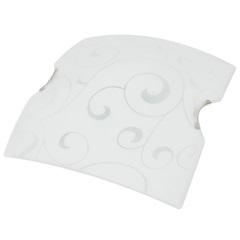 Plafon em Vidro Quadrado para 2 Lâmpadas Angra 30cm Branco - Taschibra