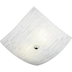 Plafon em Vidro Quadrado para 2 Lâmpadas Matrix 25cm Branco