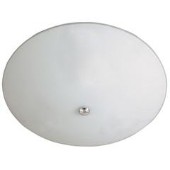 Plafon em Vidro Redondo para 2 Lâmpadas 37cm Branco E Cromado - Pantoja & Carmona