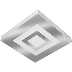 Plafon Led de Sobrepor Quadrado 26cm 16w Roma 6500k Bivolt Luz Branca - Tualux