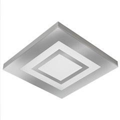 Plafon Led de Sobrepor Quadrado 36cm 25w Roma 6500k Bivolt Luz Branca - Tualux