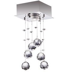 Plafon para 1 Lâmpada Cromado 14x35cm - Bronzearte