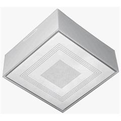 Plafon para 1 Lâmpada Valência Transparente Quadrado