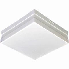 Plafon para 2 Lâmpadas Bilbao Branco Quadrado - Madrilux