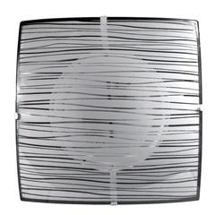 Plafon para 2 Lâmpadas Quadrado Listrado Branco