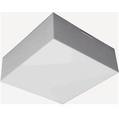 Plafon para 2 Lâmpadas Valência 02 Acrílico Jateado Quadrado - Tualux