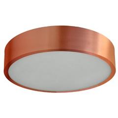 Plafon Redondo em Alumínio para 1 Lâmpada 20cm Cobre - Pantoja & Carmona