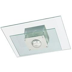 Plafon Retangular para 1 Lâmpada Spacial Transparente - Pantoja & Carmona