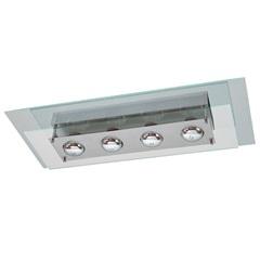 Plafon Retangular para 4 Lâmpadas Spacial Transparente - Pantoja & Carmona