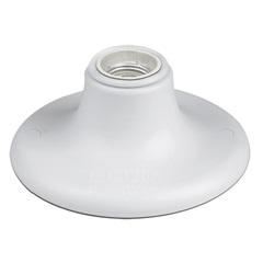 Plafonier de Sobrepor para 1 Lâmpada 9x13,9cm Branco - Bronzearte