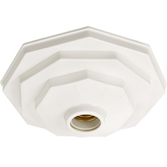 Plafonier Decorativo 910 para 1 Lâmpada Branco - Pavilonis
