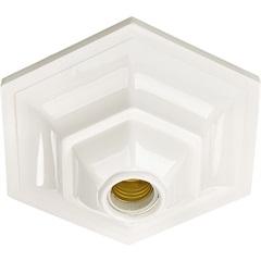 Plafonier Decorativo Jc para 1 Lâmpada Branco - Pavilonis