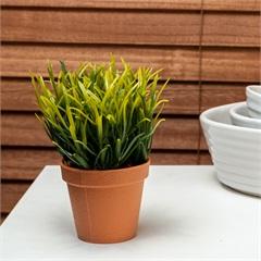Planta Artificial Decorativa Caladium Dongli 14cm Verde - Casa Etna