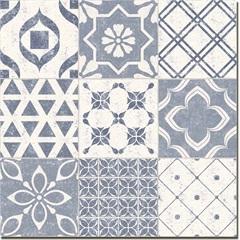 Porcelanato Acetinado Borda Reta Lisboa Azul 58,4x58,4cm - Portinari