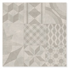 Porcelanato Acetinado Borda Reta Lisboa Gray Mix 58,4x58,4cm - Portinari