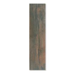 Porcelanato Acetinado Borda Reta Marrom 25x104cm - Porto Ferreira