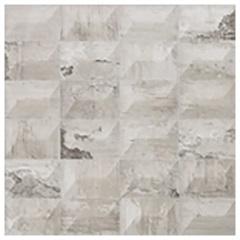 Porcelanato Acetinado Matte Borda Reta Sense Geometric Soft Gray 60x60cm - Portinari