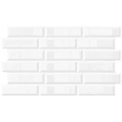 Porcelanato Borda Bold Brilhante Alasca Branco 35x60cm - In Out