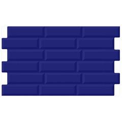 Porcelanato Borda Bold Brilhante Cancún Azul 35x60cm - In Out
