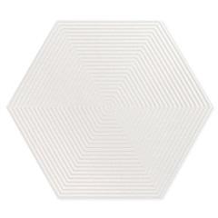 Porcelanato Borda Bold Love Hexa Matte Lux Branco 17,4x17,4cm - Portinari
