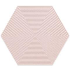 Porcelanato Borda Bold Love Hexa Matte Lux Rosa Claro 17,4x17,4cm - Cerâmica Portinari