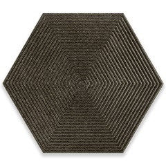 Porcelanato Borda Bold Love Hexa Steel Matte Lux Cinza 17,4x17,4cm - Cerâmica Portinari