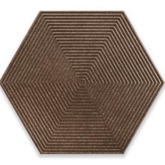 Porcelanato Borda Bold Love Hexa Steel Matte Lux Ouro 17,4x17,4cm - Cerâmica Portinari
