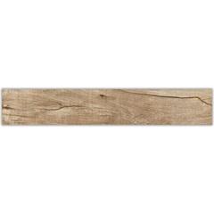 Porcelanato Esmaltado Acetinado Borda Reta Antique Wood Ambar 16,5 X101cm - Elizabeth