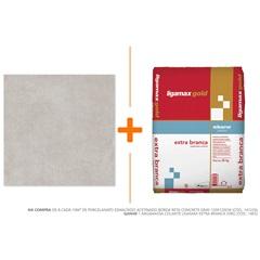 Porcelanato Esmaltado Acetinado Borda Reta Concrete Gray 120x120cm - Roca