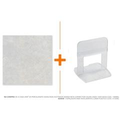 Porcelanato Esmaltado Acetinado Borda Reta Connection Silver Cinza 120x120cm - Biancogres