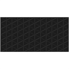 Porcelanato Esmaltado Acetinado Borda Reta Matelasse Black 53x106cm - Biancogres