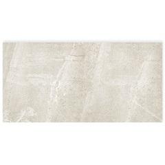 Porcelanato Esmaltado Acetinado Borda Reta Pietra Nera Branco 58,4x117cm - Portinari