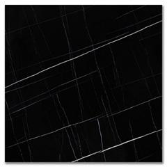 Porcelanato Esmaltado Acetinado Borda Reta Sahar Preto 120x120cm - Roca