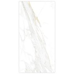 Porcelanato Esmaltado Borda Reta Marmo Calacata Bianco 52,7x105cm