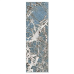 Porcelanato Esmaltado Brilhante Borda Reta Blue Marine 32x100cm - Ceusa