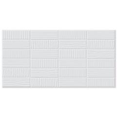 Porcelanato Esmaltado Brilhante Borda Reta Grid Bianco 53x106cm - Biancogres