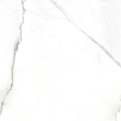 Porcelanato Esmaltado Calacata Marmorizada Retificado Polido Cinza 84x84cm - Delta