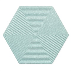 Porcelanato Esmaltado Matte Borda Bold Love Hexa Blue 17,4x17,4cm - Portinari