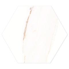 Porcelanato Esmaltado Natural Borda Bold Opera Hexa White 17,4x17,4cm - Portinari