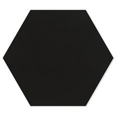 Porcelanato Esmaltado Natural Borda Bold Rima Hexa Black 17,4x17,4cm - Portinari