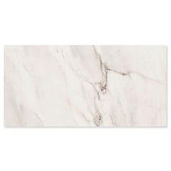 Porcelanato Esmaltado Polido Borda Reta Fossile Branco 59x118cm - Eliane
