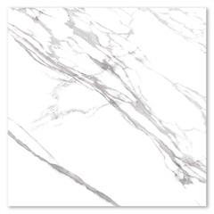 Porcelanato Esmaltado Polido Borda Reta Marmo Branco 120x120cm - Eliane